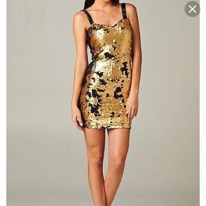 Two way sequin party dress